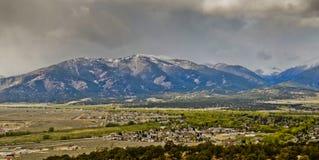 Cloudy day and Colorado landscape Stock Photos