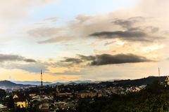 Cloudy day. Dalat city in a beautiful dawn Royalty Free Stock Photos