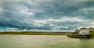 Cloudy day at East Strand / Arcadia Portrush. Co.Antrim Northern Ireland Royalty Free Stock Image