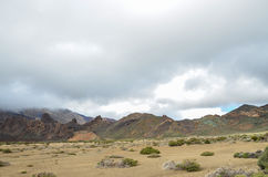 Cloudy Day in El Teide National Park Royalty Free Stock Photo