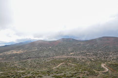 Cloudy Day in El Teide National Park Stock Photography
