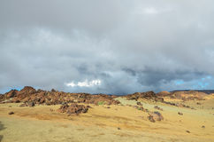 Cloudy Day in El Teide National Park Royalty Free Stock Photography