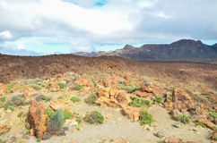 Cloudy Day in El Teide National Park Stock Image