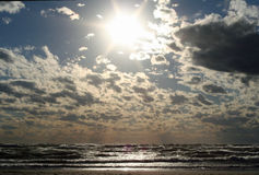 Cloudy Day in Grand Haven Royalty Free Stock Photo