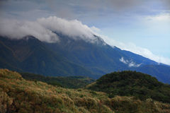 A cloudy day in great mountain at autumn Royalty Free Stock Image