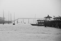 A Cloudy Day in Kampong Ayer Royalty Free Stock Images