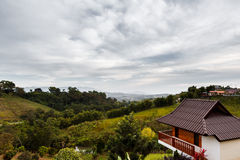 Cloudy day. Khao kor  Thailand Royalty Free Stock Photo