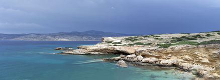 Cloudy day. In Koufonissia island, Greece Royalty Free Stock Images
