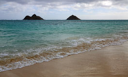 Cloudy day on Lanikai Beach Stock Photography