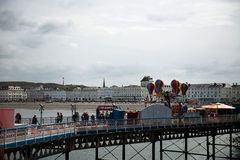 Cloudy day in Llandudno North Wales Royalty Free Stock Photo