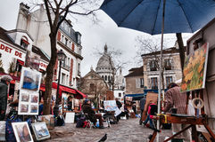 A cloudy day in Mont-Martre Stock Photo