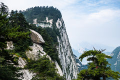 Cloudy day on Mount Hua in Shaanxi province. royalty free stock photography