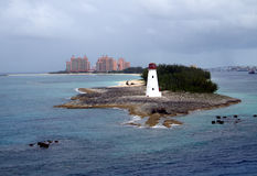 A Cloudy Day at Nassau in the Bahamas royalty free stock photography