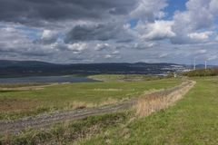 Cloudy day near Milada lake in Usti nad Labem Stock Images