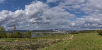 Cloudy day near Milada lake in Usti nad Labem Royalty Free Stock Photo