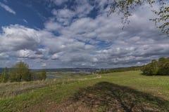 Cloudy day near Milada lake in Usti nad Labem Stock Image
