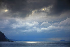 Cloudy day in northeast coast in Taiwan Stock Photography