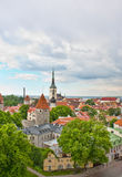 Cloudy day in old tallinn Stock Photography