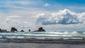 A cloudy day on the Oregon coast. Royalty Free Stock Photo