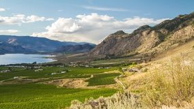 Cloudy day at Osoyoos, BC stock footage