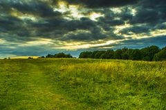 A cloudy day in the park. A cloudy day in wyken croft park, coventry, united kingdom Stock Photography
