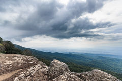 Cloudy day. Phu hin rong kla national park thailand Stock Image