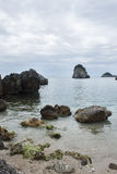 Cloudy day on Piso Krioneri Beach Parga Greece Stock Photography