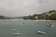 Cloudy Day At Salcombe. Stock Photos