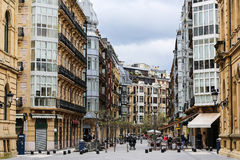 Cloudy day in San Sebastian, Spain Royalty Free Stock Photos