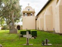 Cloudy day at Santa Ines Mission California Stock Image