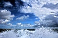 Cloudy day at sea Stock Photos