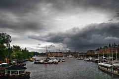 Cloudy Day in Stockholm Stock Image