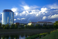 Cloudy Day. Summer cloudy day in Vilnius, Lithuania Royalty Free Stock Photo