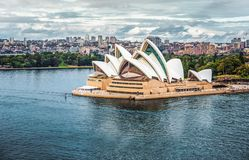 Cloudy day in Sydney harbour royalty free stock image