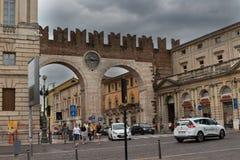 Town gate at the Piazza Bra in Verona, Veneto, Italy Royalty Free Stock Photos