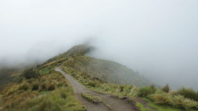 A cloudy day on the trail that leads to the summit of the Rucu Pichincha volcano near the city of Quito. Stock Images