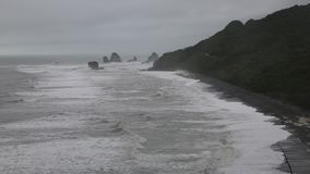 Cloudy day on west coast stock video footage