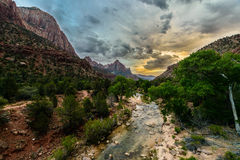 Cloudy day at ZION national park, Utah, USA Stock Image