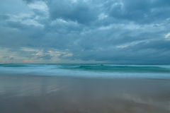 Cloudy Daybreak Seascape at the Beach. Taken at Birdie Beach, Munmorah on the Central Coast, NSW, Australia Royalty Free Stock Photography