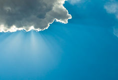 Cloudy deep blue sky Stock Photo