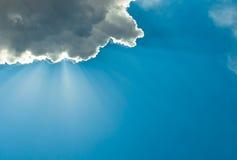 Cloudy deep blue sky Stock Photo