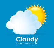 Cloudy design Royalty Free Stock Images