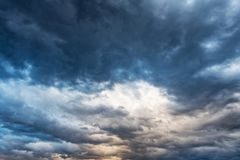 Cloudy dramatic sky before rain and storm. Cloudy dramatic sky before rain or storm royalty free stock images