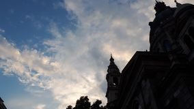Cloudy evening in Budapest royalty free stock images