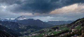 Cloudy evening in Dolomites mountains Royalty Free Stock Photos