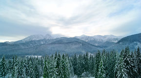 Cloudy evening in the mountains royalty free stock photos