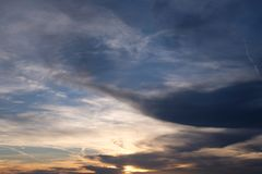Cloudy Evening Sky Royalty Free Stock Images