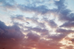 Cloudy evening sky Royalty Free Stock Image
