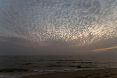 Cloudy evening sky Stock Photo