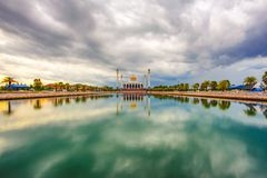 Cloudy evening at Songkhla Central Mosque. Songkhla, Thailand This place is in the southern Thailand stock photos
